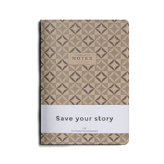 Octagon Design - Write – Tessellated – Small - A5 - Lined Notebook