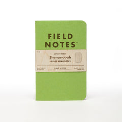 Field Notes Set Of 3 Notebooks - Shenandoah - Graph