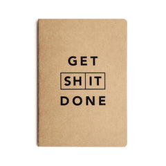 Mi Goals - Get Shit Done - Classic A5 - Lined Notebook - Kraft
