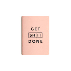 Mi Goals - Get Shit Done - Classic A6 - Lined Notebook - Coral