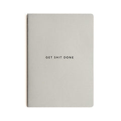 Mi Goals - Get Shit Done - Minimal A5 - Lined Notebook - Grey