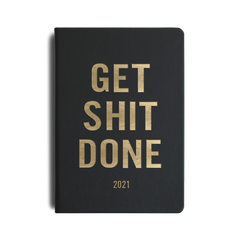 Mi Goals - 2021 - GSD Weekly Notes Diary - A5 - Black