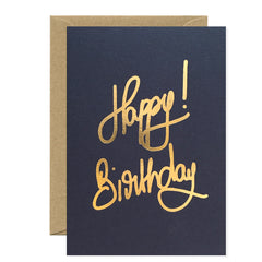 All The Ways To say - Card - Happy Birthday Gold Foil