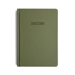Mi Goals - 2020 Diary - A5 - Hard Cover - Khaki