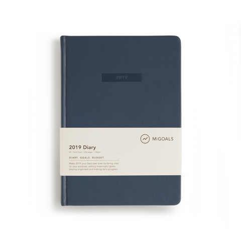 8ac63dea240 Mi Goals - 2019 Diary - A5 - Hard Cover - Navy – mag nation