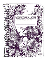 Decomposition Spiral Notebook - Humming Birds - Pocket - Ruled