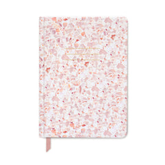 Designworks Ink - Small Hardcover Notebook - Terrazzo – Blush