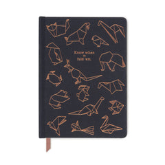 Designworks Ink - Small Ruled Notebook - Origami Animals