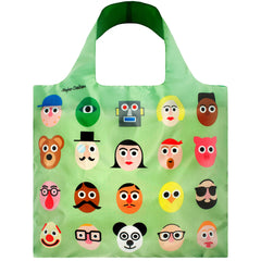 LOQI Reusable Shopping Bag - Creative Collection Stephen Cheetham faces