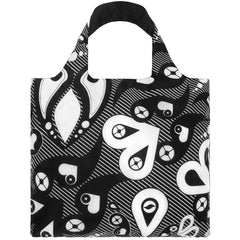 LOQI Reusable Shopping Bag - Uberpup Collection Hearts