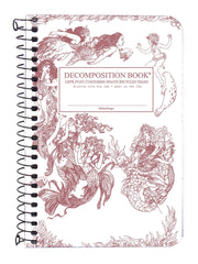 Decomposition Spiral Notebook - Mermaids - Pocket - Ruled