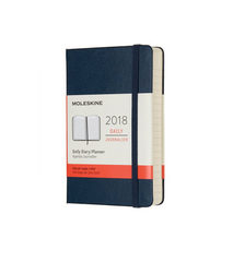 Moleskine - 2018 Hard Cover Diary - Daily - Pocket (9x14cm) - Sapphire Blue