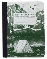 Decomposition - Notebook - Large  - Ruled - Mountain Lake