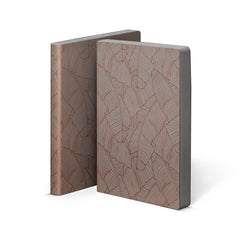 Nuuna Graphic Large Notebook Copper Smooth Bonded Leather Banana Leaves