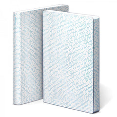 Nuuna Graphic Large Notebook White Smooth Bonded Leather Analog