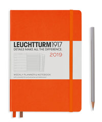 Leuchtturm 2019 Diary - Weekly Planner and Notebook - Medium (A5) - Hardcover - Orange