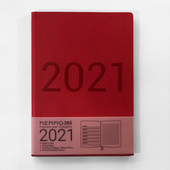 Memmo 365 LUXE 2021 Week-To-View Diary - Rouge