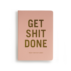 Mi Goals - 2019 Get Shit Done Diary - A5 - Soft Cover - Coral