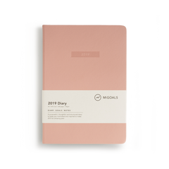 Mi Goals - 2019 Diary - A5 - Soft Cover - Coral