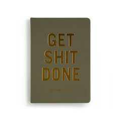 Mi Goals - 2019 Get Shit Done Diary - A5 - Soft Cover - Khaki