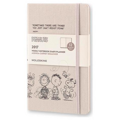 Moleskine 2017 Hard Cover Diary Weekly Notebook Large Peanuts Light Grey