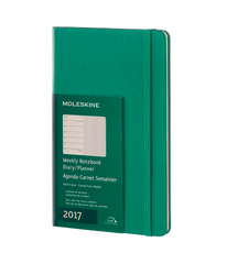 Moleskine 2017 Hard Cover Diary Weekly Notebook Large Malachite Green