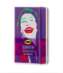 Moleskine 2017 Hard Cover Diary Weekly Notebook Pocket Batman Violet