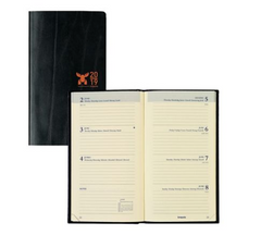 Brepols Moose 2019 Diary Black Recycled Leather Pocket