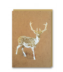 Nineteen Seventy three - Deer - Christmas Card