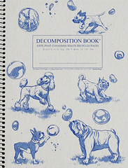 Decomposition - Spiral Bound Notebook - Large - Ruled - Dogs and Bubbles