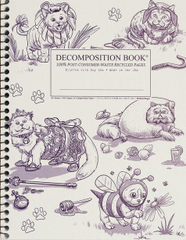 Decomposition - Spiral Bound Notebook - Large - Ruled - Costume Cats