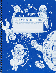 Decomposition - Spiral Bound Notebook - Large - Ruled - Kittens In Space
