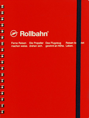 Delfonics Rollbahn Spiral Notebook - Large - Red
