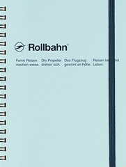 Delfonics Rollbahn Spiral Notebook - Large - Sky Blue
