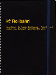 Delfonics Rollbahn Spiral Notebook - Large - Black