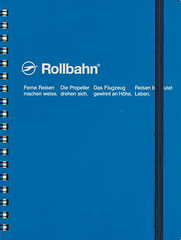 Delfonics Rollbahn Spiral Notebook - Large - Royal Blue