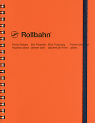 Delfonics Rollbahn Spiral Notebook - Large - Orange