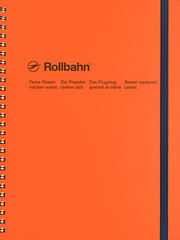 Delfonics Rollbahn Spiral Notebook - Extra Large - Orange
