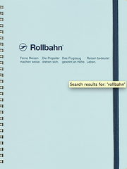 Delfonics Rollbahn Spiral Notebook - Extra Large - Sky Blue