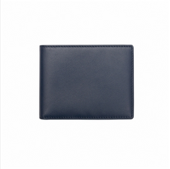 Memmo Leather Wallet - Blue