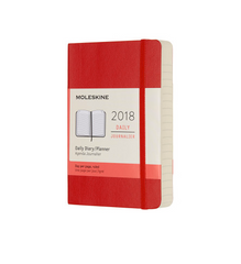 Moleskine - 2018 Soft Cover Diary - Daily - Pocket (9x14cm) - Scarlet Red