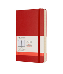 Moleskine - 2018 Hard Cover Diary - Daily - Large (13x21cm) - Scarlet Red