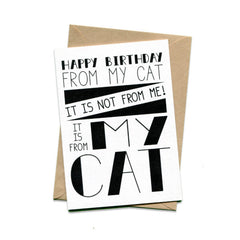 Things by Bean - 'Happy Birthday From My Cat' Card