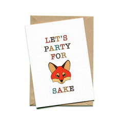Things by Bean - 'Let's part for Fox Sake' Card