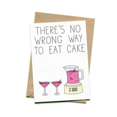 Things by Bean - 'There's No Wrong Way To Eat Cake' Card