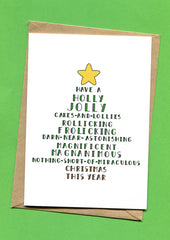 Things by Bean - Christmas - Tree Poem Card