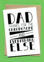 Things by Bean - 'Dad Thanks Fathers Day' Card