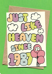 Things by Bean - 'Just Like Heaven Since 1987 30th Birthday' Card