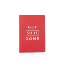 Mi Goals - Get Shit Done - Classic A6 - Lined Notebook - Red