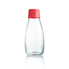 Retap - Glass Water Bottle - Small 300ml - Red